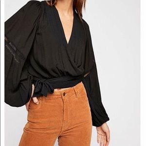 NWT Free People Dream Girl Wrap Blouse